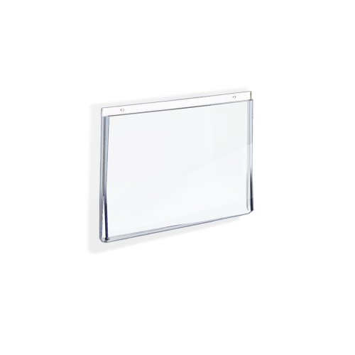 Azar 162725 5-Inch W by 3-1/2-Inch H Wall U-Frame Sign Holder, 10-Piece Set