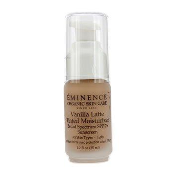 Eminence Organic Skin Care Vanilla Latte Tinted Moisturizer light Spf 25, 1.2 Ounce