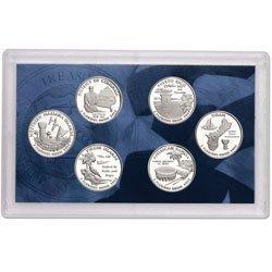 Us Mint Clad - 2009-S US MINT -- DC & US TERRITORIES QUARTER PROOF SET -- 6 PROOF CLAD COINS