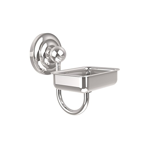 - Allied Brass PQN-WG2-PC Prestige Que New Collection Wall Mounted Soap Dish, Polished Chrome