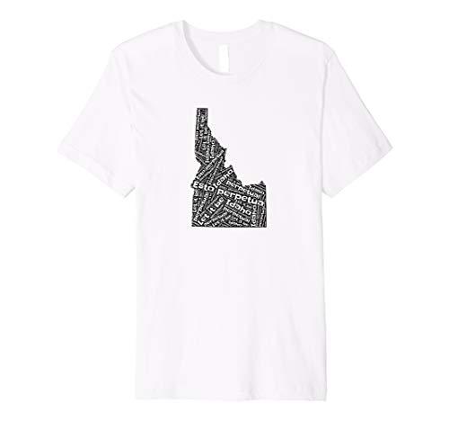 - Idaho State Motto Word Map Premium T-Shirt