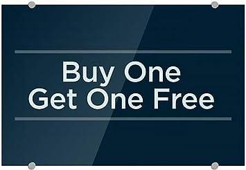 Buy One Get One Free CGSignLab 27x18 Basic Navy Premium Acrylic Sign 5-Pack