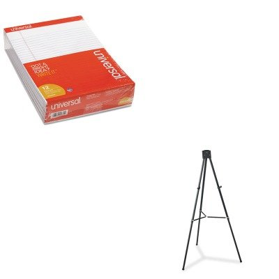 KITQRT56EUNV20630 - Value Kit - Quartet Heavy-Duty Adjustable Telescoping Tripod Easel (QRT56E) and Universal Perforated Edge Writing Pad (UNV20630) by Quartet