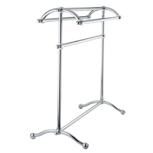 - Kingston Brass SCC2291 Pedestal Towel Rack, Polished Chrome