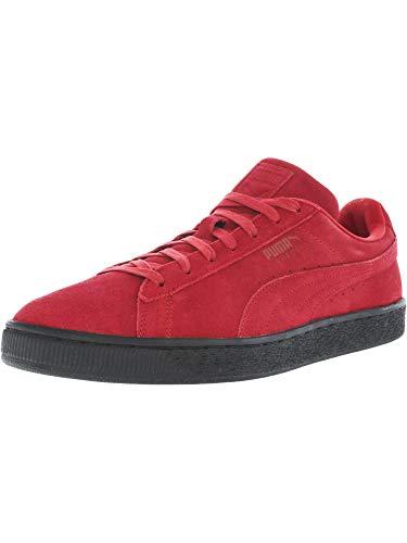 PUMA Men's Suede Black Sole Barbados Cherry/Puma Black Athletic Shoe