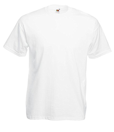 Fruit of the Loom: Valueweight Tee 61-036-0, Größe:4XL;Farbe:White