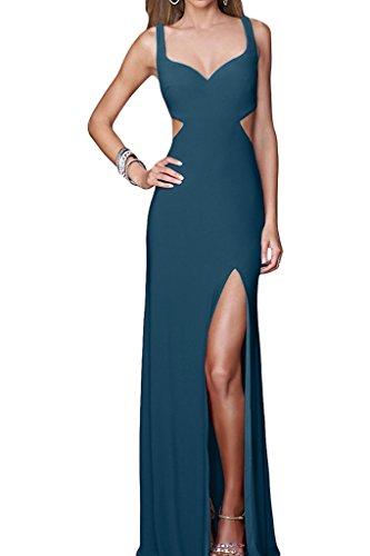 Sexuell Promkleid Schlitz Blaugruen Traeger Partykleid Ivydressing Abendkleid Rueckenfrei Damen PwqUY5