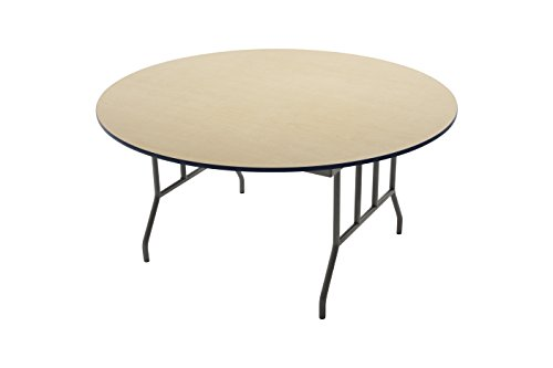 AmTab - R72DP - Folding Table, Plywood Core, Round, 72