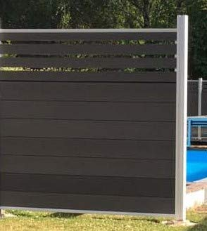 Wood Plastic Composites WPC Fence Mid-Trellis Style Set