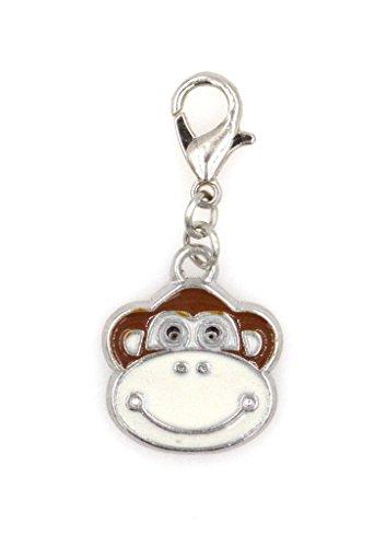Attach Charms Charm Bracelet (Enamel Monkey Clip On Charm Perfect for Necklaces and Bracelets (ZC 98E))