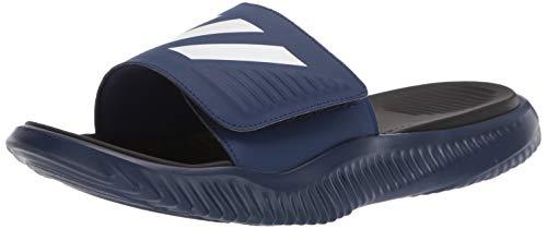 adidas Men's Alphabounce Slide, Dark Blue/White/Black, 11 M US