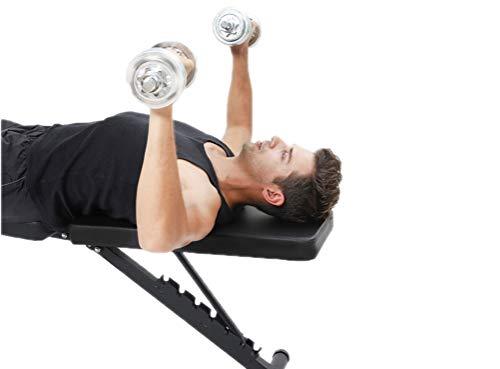 SJZC Banco De Ejercicios MusculacióN Ajustable Banco MusculacióN Mancuernas,Black: Amazon.es: Deportes y aire libre
