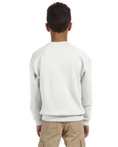 Jerzees Sweatshirt 562b (Jerzees Big Boy's Ribbed Crewneck Sweatshirt, White, Large)