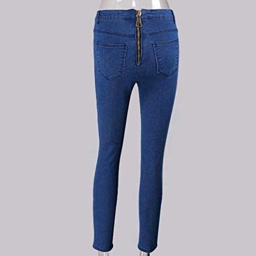 Pantalon Bleu Stretch Haute Femmes Back Pencil Jeans conqueror Pantalon Sexy Taille Zipper Denim aAPOUnZ