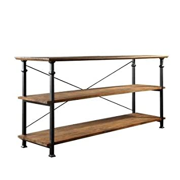 HomeSullivan Grove Place 50u0026quot; TV Stand In Rustic Pine With Styled Wrought  Iron Supports And
