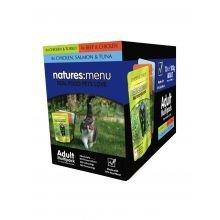 Natures Menu Cat Multi 12 Pack of Food - Chicken & Turkey, Beef & Chicken, Chicken, Salmon & Tuna