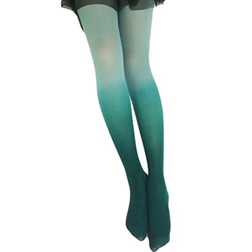 Price comparison product image Hot Sale!!Womens Vintage Gradient Bodystockings Tights Stockings Fashion Trend Pantyhose Socks (Green)