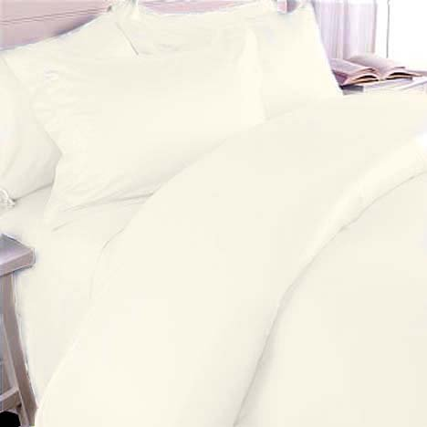 Marrikas 300TC Egyptian Cotton TWIN IVORY SOLID Duvet Cover Set