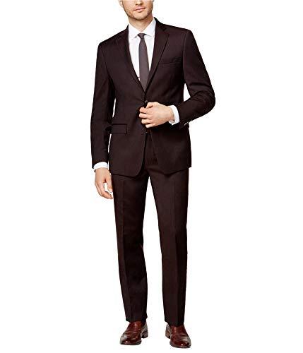 (Calvin Klein Mens Slim fit 2 Piece Two Button Suit, Brown, 50 Regular / 44W x)