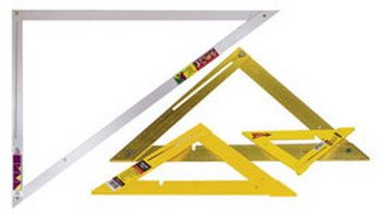 CH Hanson 45163 6-Pack 16'' Heavy Duty Aluminum 45 Degree Folding Layout aSquare by Small Parts