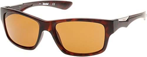 Timberland Men's TB9078 Polarized Wrap Sunglasses, Brown, 57 - Sunglasses Mens Timberland