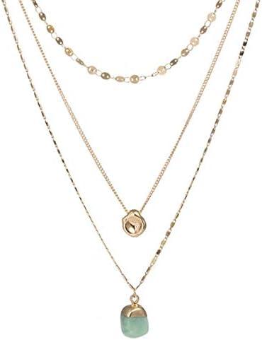 TTDAltd Halskette Sea Shell Anhänger Halskette Mehrschichtige Perle