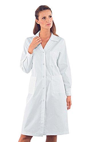 Bottoni Tessuto Bianco Poliestere Isacco Mezza Camice m² 35 Cotone pressione Donna 18063 Bianco Bianco M 65 gr 150 Manica a 6PqC4