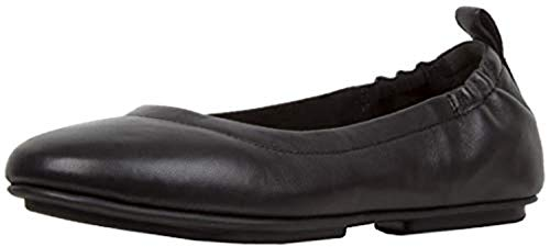 (FitFlop Women's Allegro Leather Ballet Flats Black 5 & Sunscreen Spray Bundle)