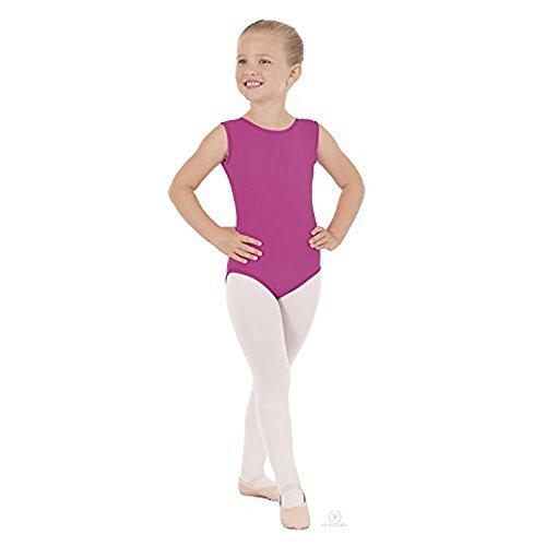 Eurotard 4489 Girls Gymnastics Basics Tank Leotard (Med 8-10, Fuchsia)