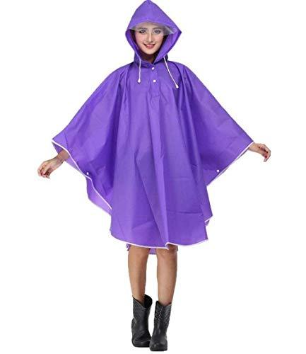 Con Las Mujeres Abrigo Impermeable Lluvia De Motocicleta La Eva Raincape Capucha Casuales Lila Parka Poncho Aw5q0TxS