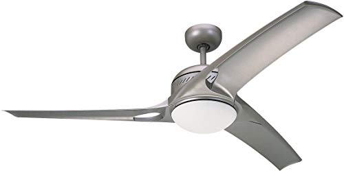 Monte Carlo 3MO52TMO-L, Mach One Ceiling Fan with Light & Wall or Remote Control, 52