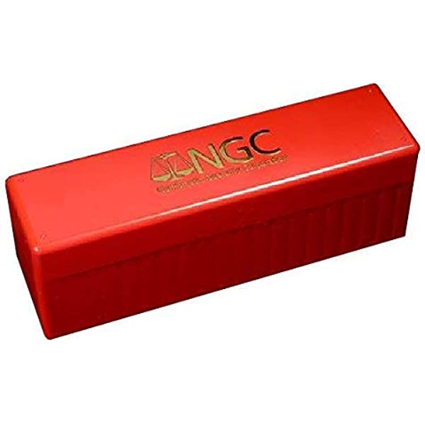 Red 1 x New Storage Display Showcase Box For 6 NGC Certified Slabs Coin Holder