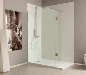 Mampara de ducha fija italiana Eter con un Panel extraíble. Vidrio ...