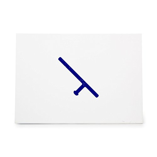 Baton Club Melee Night Stick Nightstick Police Riot Style 7287, Rubber Stamp Shape great for Scrapbooking, Crafts, Card Making, Ink Stamping (Rubber Baton)