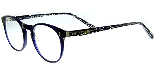 Aloha Eyewear Tek Spex 2002 MADE IN ITALY Unisex RX-Able Progressive Readers with Your Choice of Either Photo-Chromatic or Polarized Lenses (Demi Blue - While Transition Driving Lenses