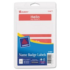 Avery 05141 Name Badge Labels 100 Count