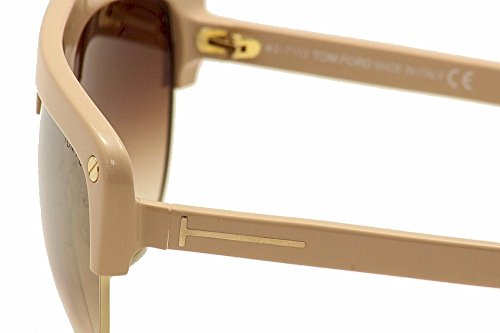 Tom Ford Liane Sunglasses in Dark Havana FT0318S 52G 62 72L: Shiny pink / Gold