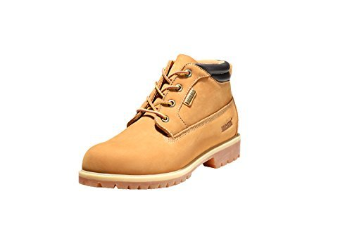 Jacata Men's Low-Cut 3 inch Work Boots Water Resistant Boots Heavy Duty Natural Rubber Blend Soles (11, Wheat)