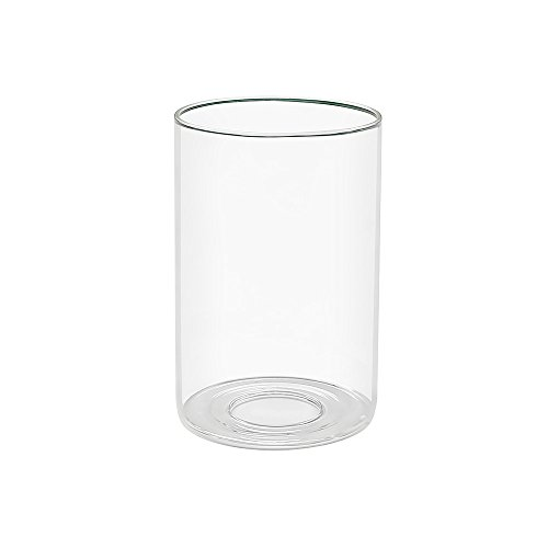Clear Glass Shade Cylinder Glass Lamp Shade Replacement Glass Shade with 1-5/8-Inch Fitter (Eumyviv A00005)