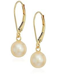 Bella Pearl 14k Freshwater Pearl Dangling Pearl Drop Earrings
