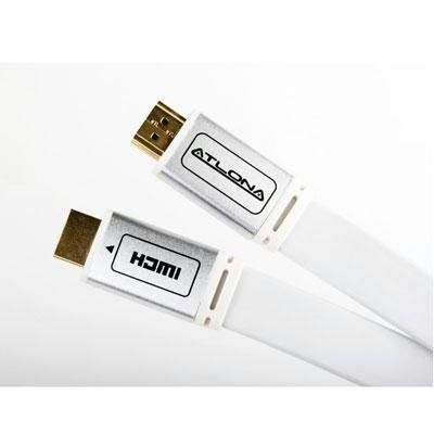 12M (40FT) Atlona Flat High Speed HDMI 3D 1.4 Cable with Ethernet - White/Paintable ATF14032WL-12 by Atlona Technologies