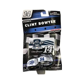 NASCAR Authentics Clint Bowyer #14 Diecast Car 1//64 Scale Collectible 2018 Wave 12 with Die Cut Magnet