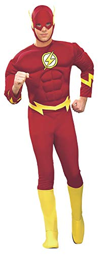 Rubie's Costume DC Comics Deluxe Muscle Chest The Flash(Adult)  Red  Medium