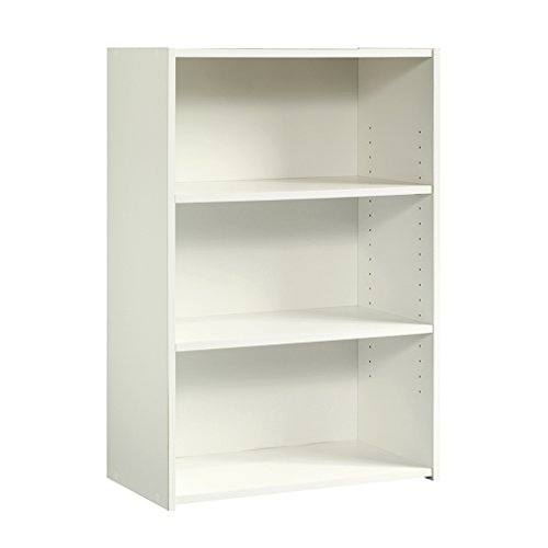 - Sauder 415541 Beginnings 3-Shelf Bookcase, Soft White Finish
