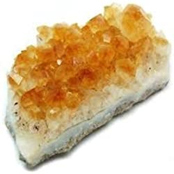 Kala Emporium Natural Gemstone Cluster Rough Gemstone Crystals (1/2lb-2lb, Citrine)