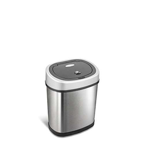 StealStreet TRASH-DZT-12-9  Motion Sensor Gallon Trash Can, 12 Ltrs/3.2 Gallons, , Stainless Steel