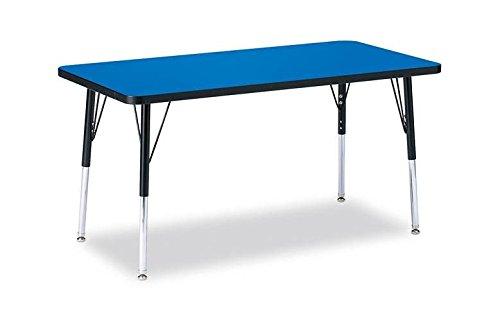 Jonti-Craft Ridgeline Kydz Rectangular Activity Table (24 in. W x 48 in. D x 24 in. - 31 in. H. - Blue) by Jonti-Craft