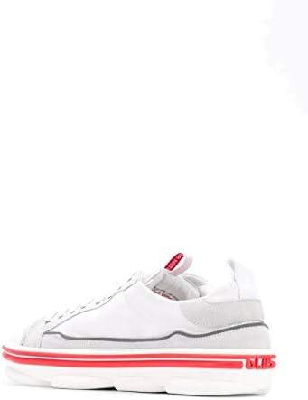GCDS Luxury Fashion Homme SS20M01000201 Blanc Cuir Baskets   Printemps-été 20