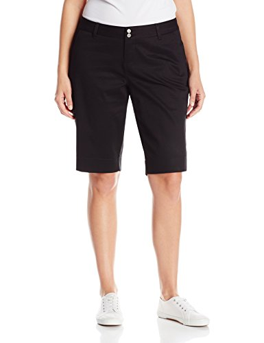 Dickies Girl Juniors Plus Size Tomboy Short, Black, (Dickies Girl Stretch Shorts)