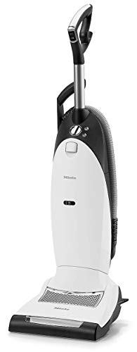 Miele Dynamic U1 Powerline Upright Vacuum Cleaner with HA-30 HEPA AirClean Filter + 4 Extra Type U AirClean Filter Bags – Lotus White